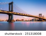 Manhattan Bridge Illuminated A...