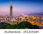 Taipei  Taiwan City Skyline At...