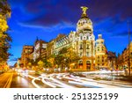 madrid  spain cityscape at... | Shutterstock . vector #251325199
