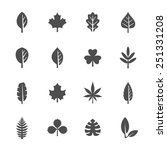 leaf icon set | Shutterstock .eps vector #251331208