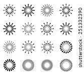 vector starbursts black symbols | Shutterstock .eps vector #251332390