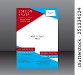 vector design of the blue flyer ... | Shutterstock .eps vector #251334124