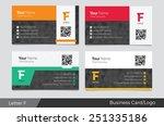 letter f logo corporate...   Shutterstock .eps vector #251335186