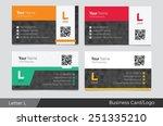 letter l logo corporate...   Shutterstock .eps vector #251335210