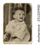 very old authentic picture cute ... | Shutterstock . vector #251335900