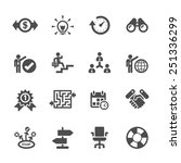 business icon set  vector eps10. | Shutterstock .eps vector #251336299