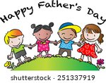 happy fathers day | Shutterstock .eps vector #251337919