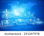 global business network concept ... | Shutterstock . vector #251347978