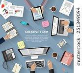 modern flat design creative... | Shutterstock .eps vector #251349094