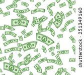 money pattern. cash background. ... | Shutterstock .eps vector #251349160