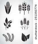 Plantation Icon Set. Vector...
