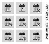 vector calendar icons | Shutterstock .eps vector #251352130