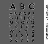 alphabetic fonts and numbers | Shutterstock .eps vector #251360686