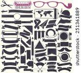 black and white ribbons...   Shutterstock .eps vector #251361889