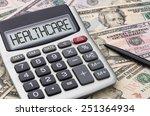 calculator with money  ... | Shutterstock . vector #251364934