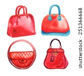 trendy women's handbags... | Shutterstock .eps vector #251366668