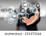 social media social network... | Shutterstock . vector #251372266