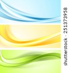 shiny wavy abstract banners.... | Shutterstock .eps vector #251373958