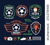 set of soccer emblems and icons.... | Shutterstock .eps vector #251378500