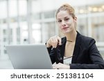 portrait of a businesswoman | Shutterstock . vector #251381104