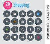 minimalistic shopping icons  on ...