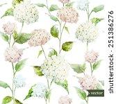 Hydrangea  Pattern  Watercolor...