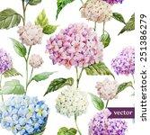 Hydrangea  Pattern  Watercolor
