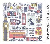 england travel set | Shutterstock .eps vector #251386429