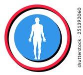 human body icon | Shutterstock .eps vector #251392060