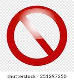 forbidden | Shutterstock .eps vector #251397250
