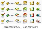 modern cloud company logo set ... | Shutterstock . vector #251404234