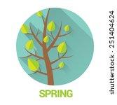 spring label or sign. spring... | Shutterstock .eps vector #251404624