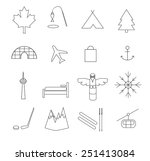 canada pictogram simple flat... | Shutterstock .eps vector #251413084