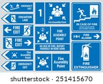 set of emergency exit sign ... | Shutterstock .eps vector #251415670