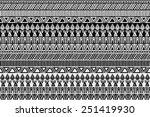 vector seamless ethnic pattern  ... | Shutterstock .eps vector #251419930