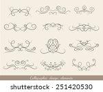 calligraphic design elements...   Shutterstock .eps vector #251420530
