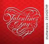 valentine card with... | Shutterstock .eps vector #251420749