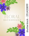 flower bouquets in the corners... | Shutterstock .eps vector #251420899