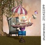 mad hatter banquet | Shutterstock . vector #251422399