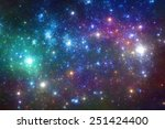 Night sky with stars - blue and purple stars background - stock photo