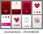 valentine s day backgrounds set.... | Shutterstock .eps vector #251428228