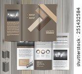 brown brochure template design... | Shutterstock .eps vector #251432584