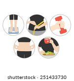 health diet and obesity | Shutterstock .eps vector #251433730