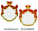heraldic royal mantles with red ... | Shutterstock .eps vector #251438890