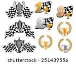 set of motor sport and racing ... | Shutterstock .eps vector #251439556