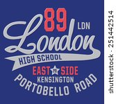college sport london typography ... | Shutterstock .eps vector #251442514