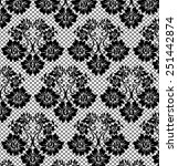 black lace pattern on white... | Shutterstock .eps vector #251442874