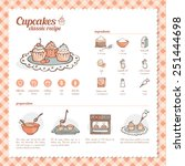 cupcakes and muffins classic... | Shutterstock .eps vector #251444698