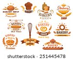 large set of bakery labels or...