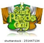 st patricks day chrome effect... | Shutterstock . vector #251447134